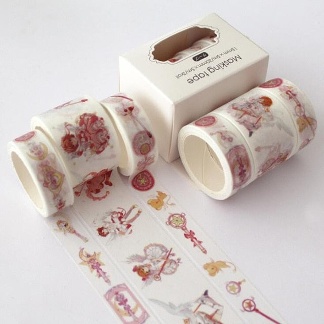 3 pcs/pack Japanese Style Watercolor Washi Tape Collection
