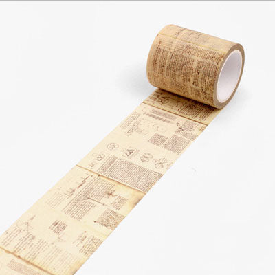 Vintage Da Vinci Inspired Manuscript Washi Tape