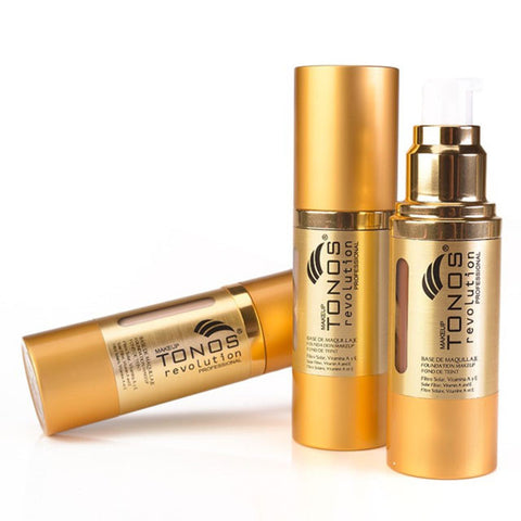 Fluid foundation enriched with vitamins A and E