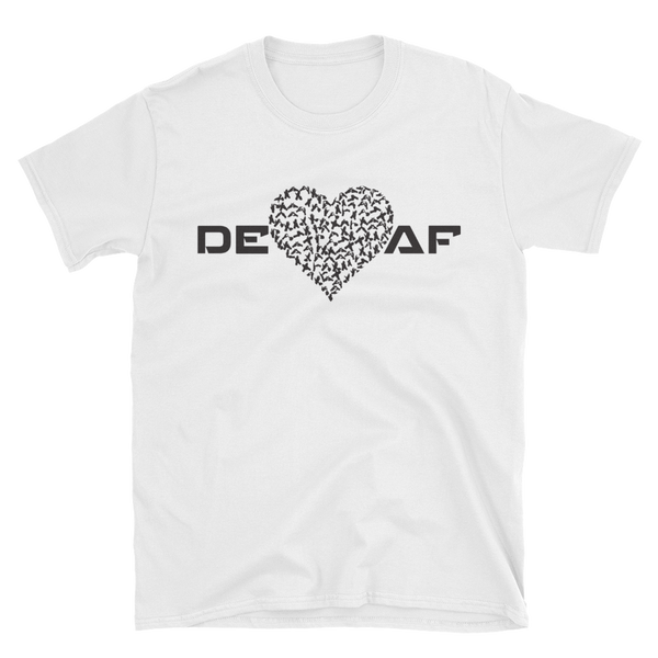 Mens DEAF HEART T-Shirt white