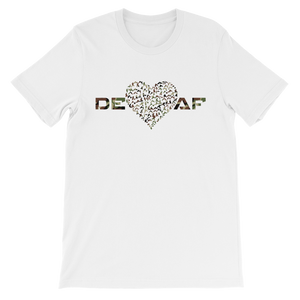 Mens DEAF HEART T-shirt camouflage