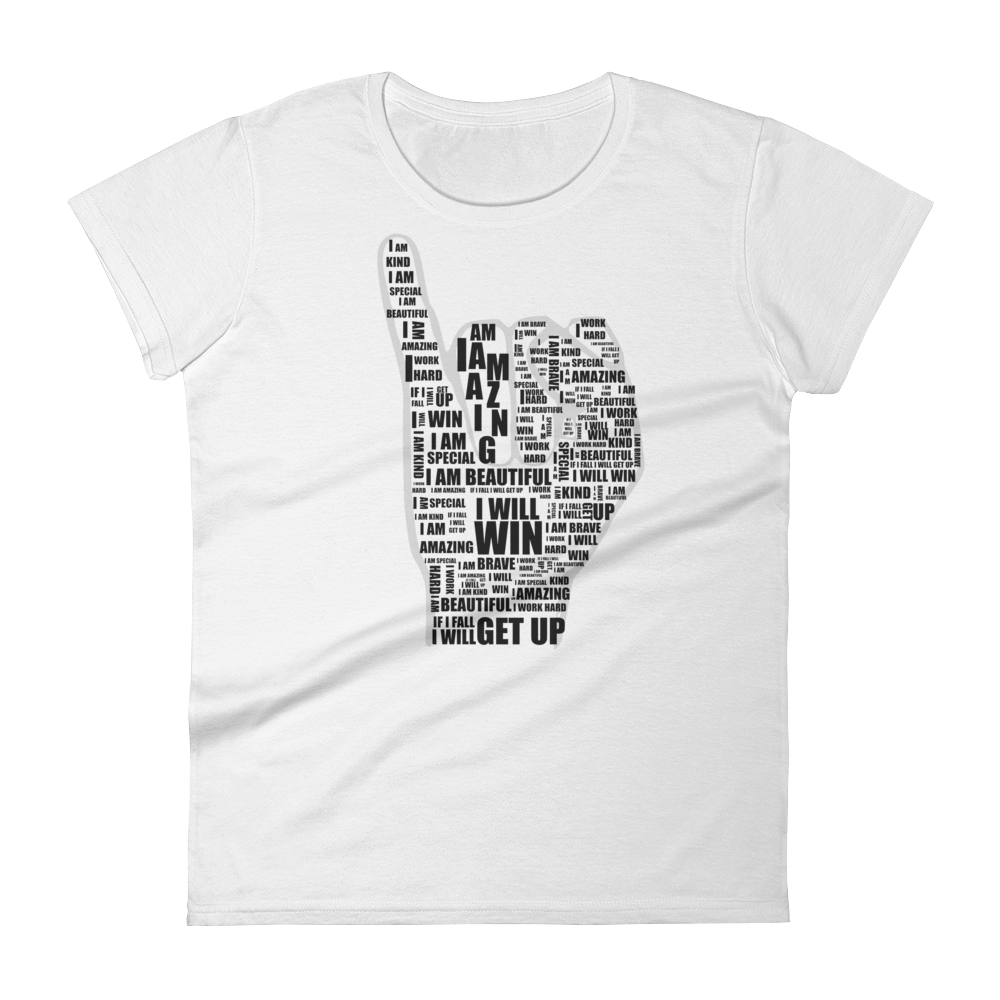 Women's I AM t-shirt classic white