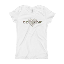 Girl's DEAF HEARTS T-Shirt Camouflage