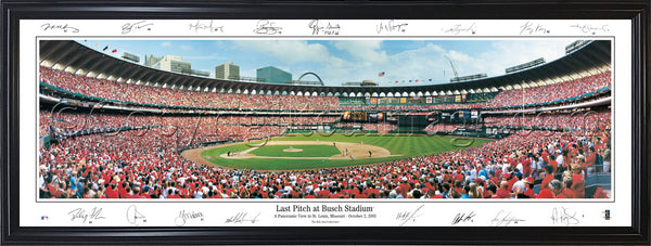 MO-182 Cardinals Last Pitch at Busch with facsimile signatures