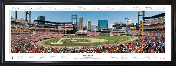 MO-188 Cardinals First Pitch with facsimile signatures