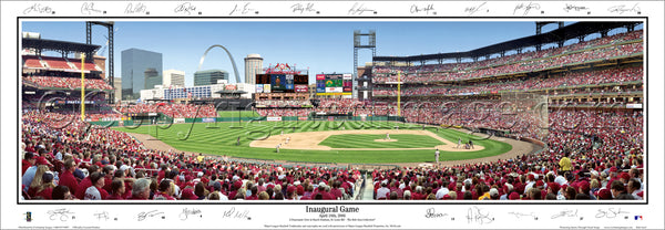 MO-190 Cardinals Inaugural Game at Busch Stadium with facsimile signatures