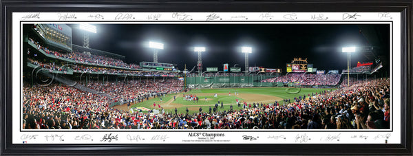 MA-214 Red Sox 2007 ALCS Champions with Signatures