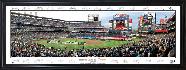 NY-254 Mets Inaugural Game at Citi Field with facsimile signatures