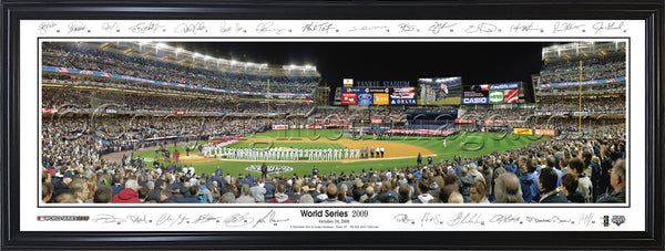 NY-262 Yankees 2009 World Series Game 1 with facsimile signatures