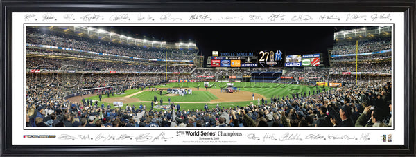 NY-264 Yankees 27th World Series Championship with facsimile signatures