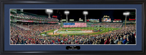 MA-352 Red Sox 2013 World Series Opening Ceremony with signatures