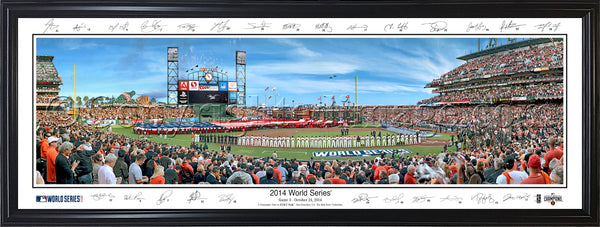 CA-369a SF Giants 2014 World Series with signatures