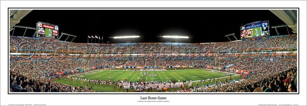 "FL-60 Miami Dolphins ""Last Home Game"""