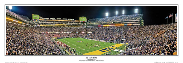 "LA-371 LSU Tigers ""21 Yard Line"""
