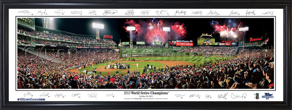 MA-353 Red Sox 2013 World Series Celebration with facsimile signatures