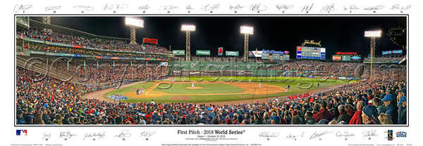 MA-426 - 2018 World Series - First Pitch with facsimile signatures