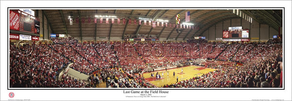 "MD-64 ""Last Game at The Field House"" Maryland Terrapins"