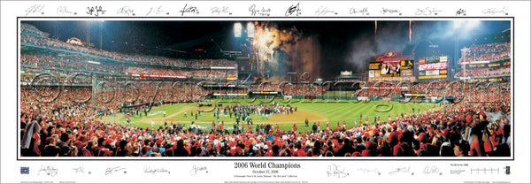 MO-197 Cardinals 2006 World Series Champions with facsimile signatures