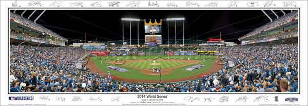 MO-368a Royals 2014 World Series Game 6 with facsimile signatures.