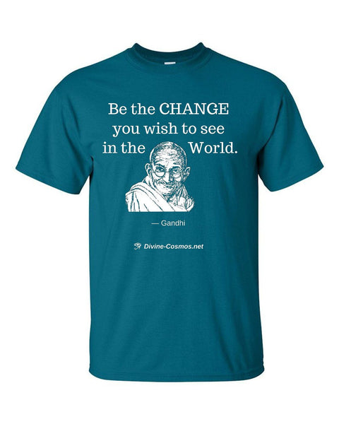 """Be The Change You Wish To See In The World"" short sleeve t-shirt"