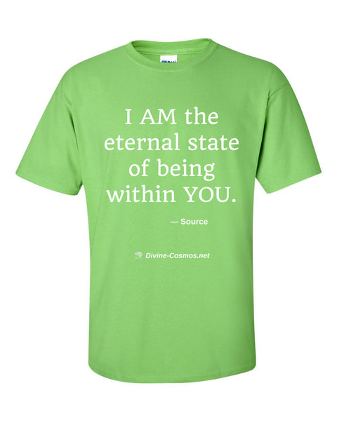 """I AM The Eternal State Of Being Within YOU"" short sleeve t-shirt"