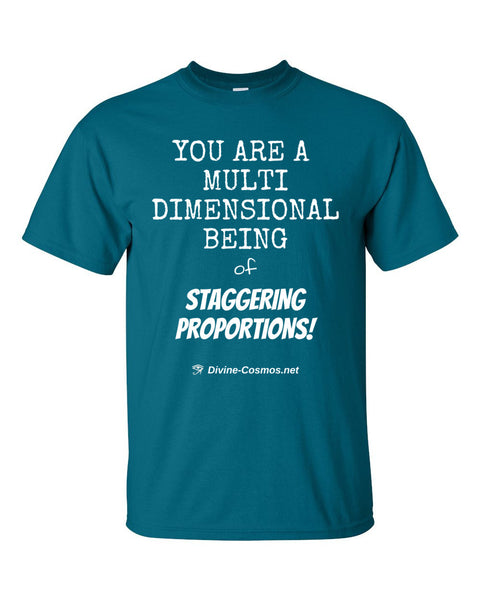 """You Are A Multidimensional Being"" short sleeve t-shirt"