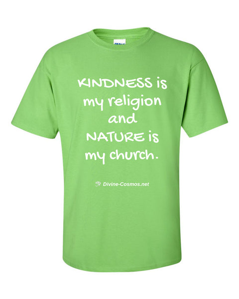 """Kindness Is My Religion"" short sleeve t-shirt"