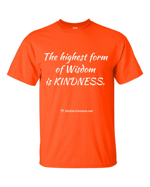 """The Highest Form of Wisdom is Kindness"" short sleeve t-shirt"