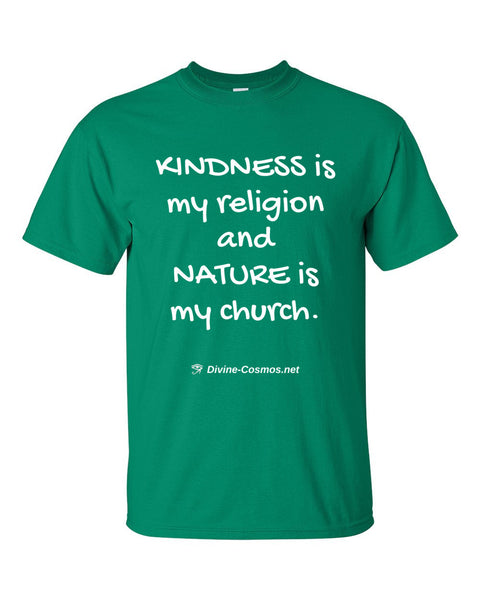 """Kindness Is My Religion"" Mens Crewneck T-Shirt"