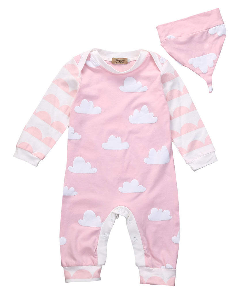 Pink Clouds Set - Age: 0 to 18 months - Petite La Petite