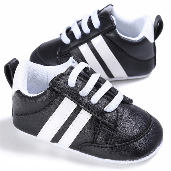 Striped Soft Sole First Walkers - 0 to 18 months - Petite La Petite