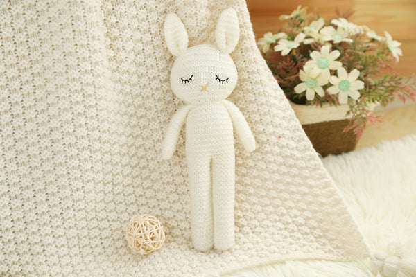 Knitted Bunny Sleeping Doll - petitelapetite