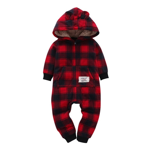 Assorted Fleece Hooded Jumpsuit - babies 6M to 24M - petitelapetite