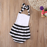 Striped Deer Backless Romper