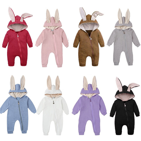 Assorted Floppy Ears Jumpsuit Jacket - 0M to 12M