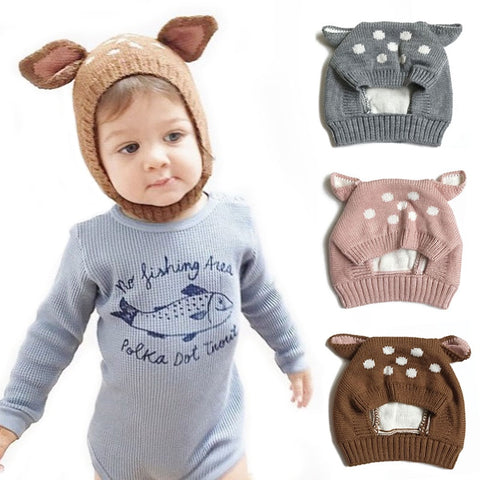 Assorted Winter Knitted Bonnet Beanie - babies 0 to 24 months - Petite La Petite