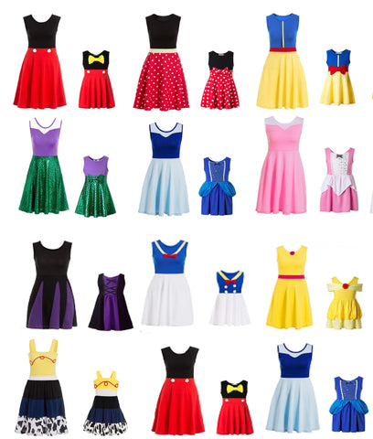 Assorted Matching Cosplay Dresses for Mother & Daughter - petitelapetite