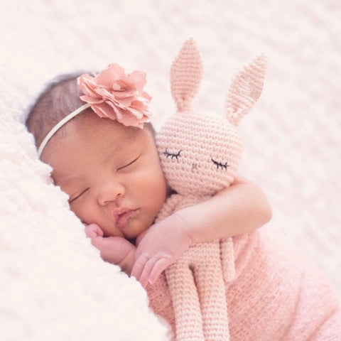 Knitted Bunny Sleeping Doll - Petite La Petite