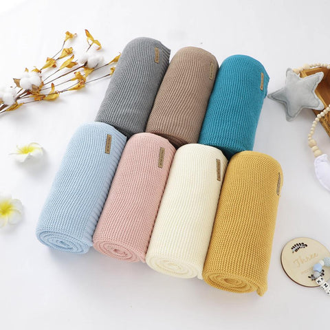 Assorted Knitted Cotton Blankets - petitelapetite