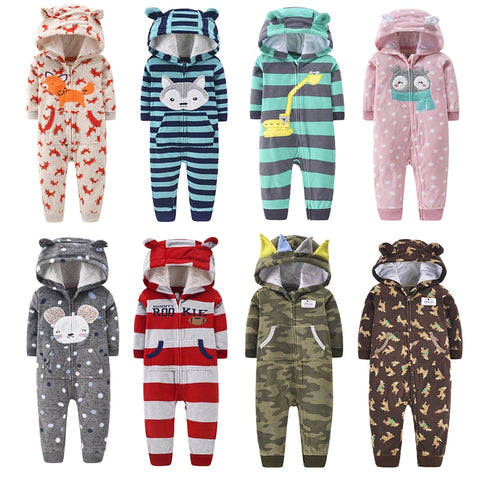 Assorted Baby's Cozy Winter Hoodie Jumpsuit (9M to 24M) - Petite La Petite