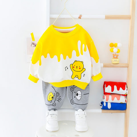 Boys Cartoon Bear Set - 9M to 4 years - petitelapetite