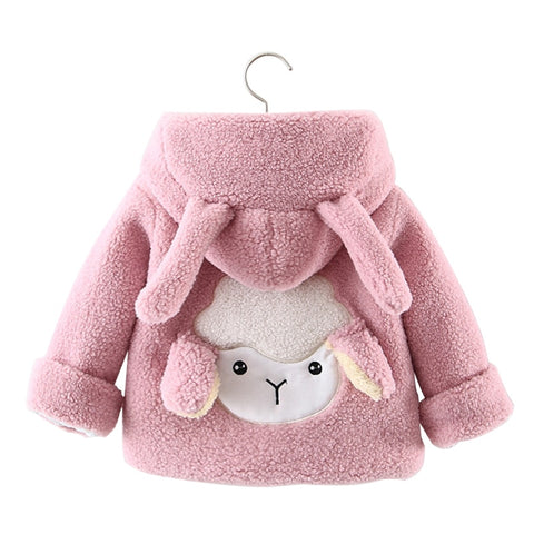 Winter Velvet Lamb Coat - ages 1 to 4 years - Petite La Petite