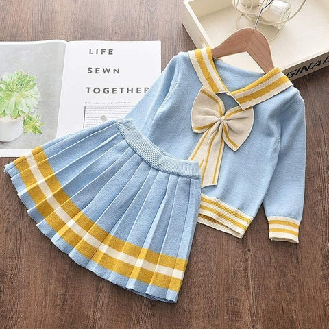 Baby Blue Sailor Outfit Set - 2 to 6 years - Petite La Petite