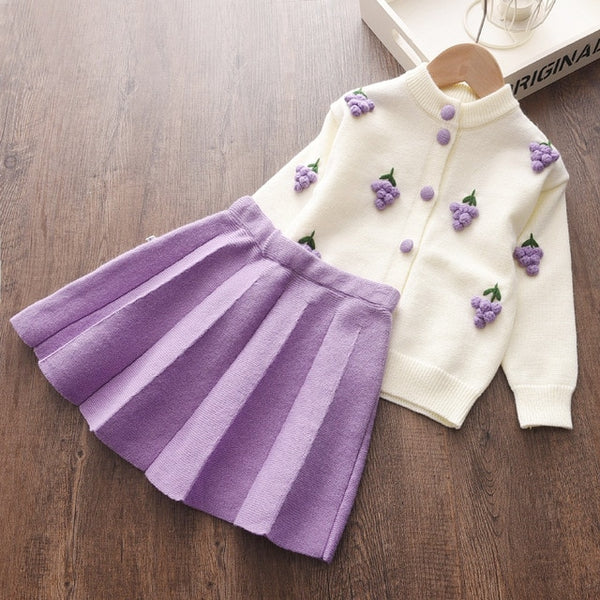 Violet Fruit Outfit Set - 2 to 6 years - petitelapetite