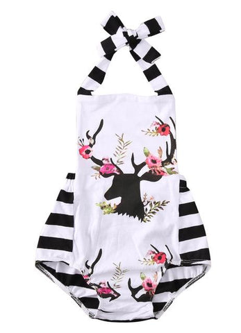 Striped Deer Romper - petitelapetite