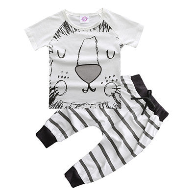 Cute Monster and Lion Print Set - petitelapetite