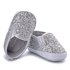 Silver Moccasins Shoes: