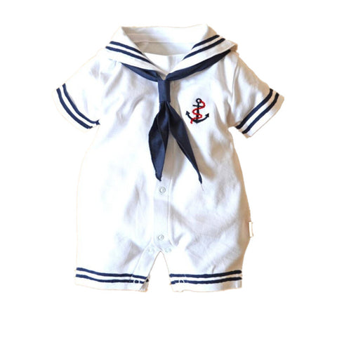 Captain Baby White and Blue Bodysuit - Petite La Petite