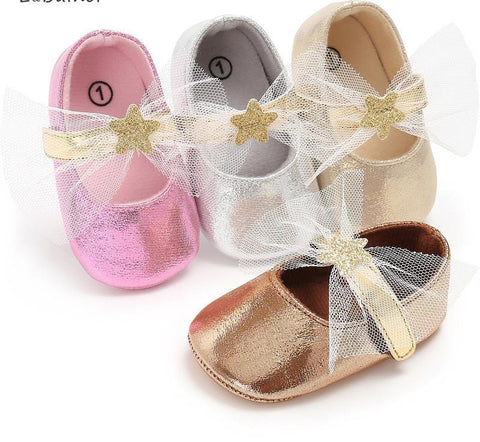 Fairy-Wing Ribbon Sparkle Shoes - Petite La Petite