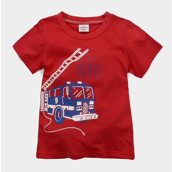 Digger Boys Summer Cotton T-Shirts - 18 months to 6 years old - Petite La Petite